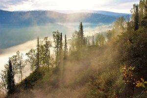 В распадке туман