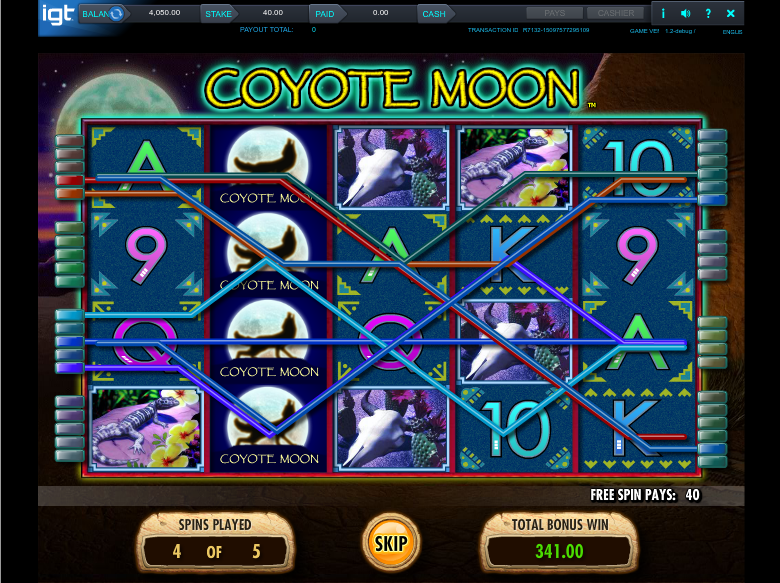 coyote moon 5 free spins