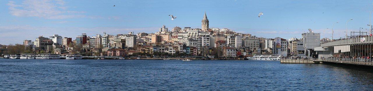 Стамбул. Золотой Рог, вид на Галату