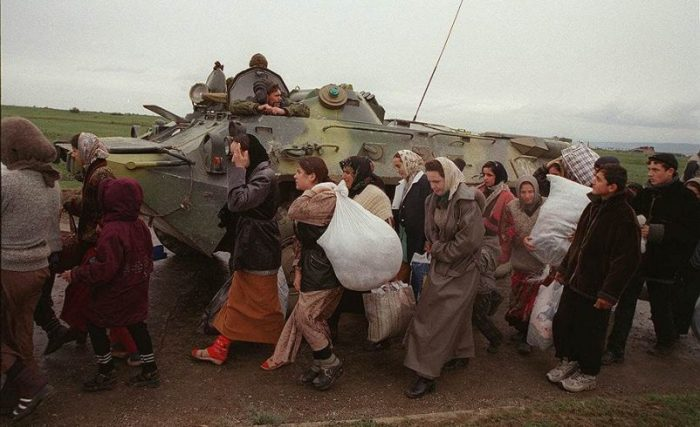 Вытеснение русского населения из Чечни началось в 1990 году, первым и самым мягким методом были анон