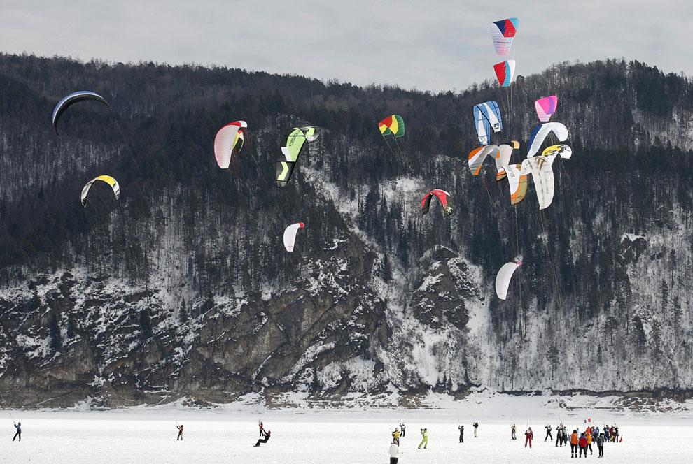 Зимняя фотосессия на берегу Енисея: