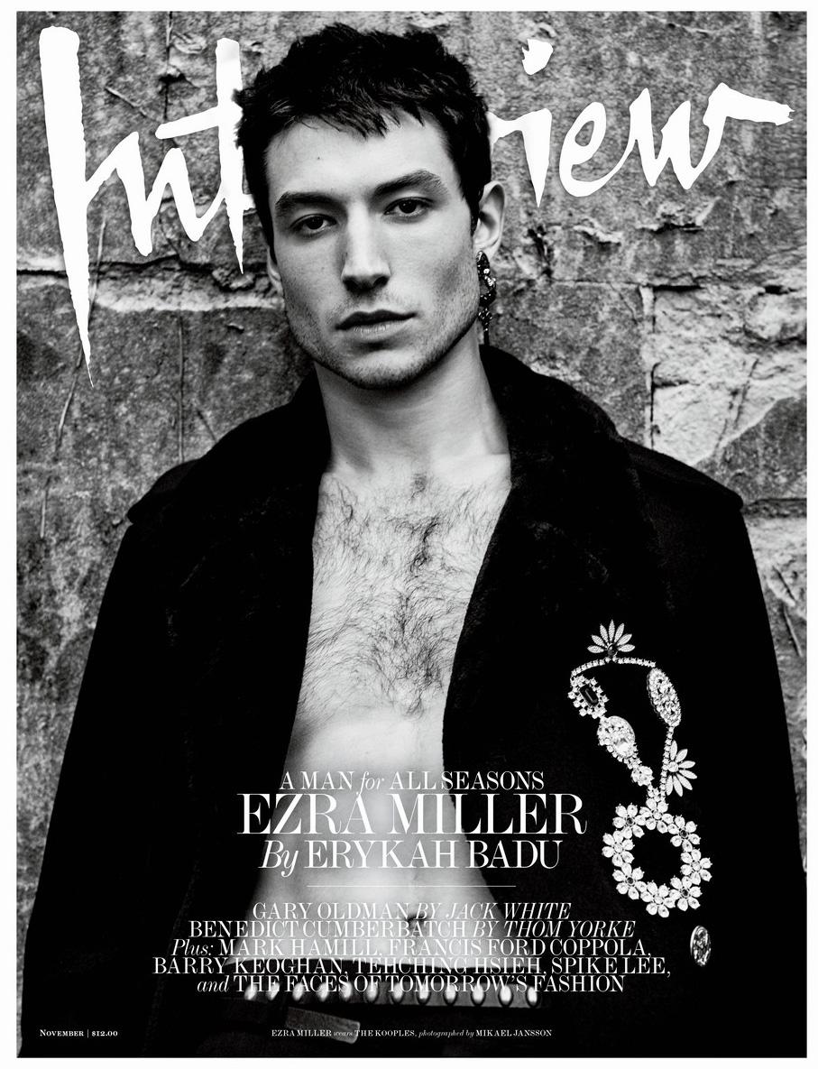 Эзра Миллер в Interview magazine (8 фото)