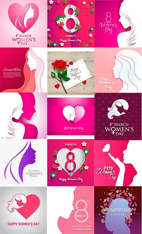 8 Марта - женский День - Вектор / Womens Day - 8 March - Vector