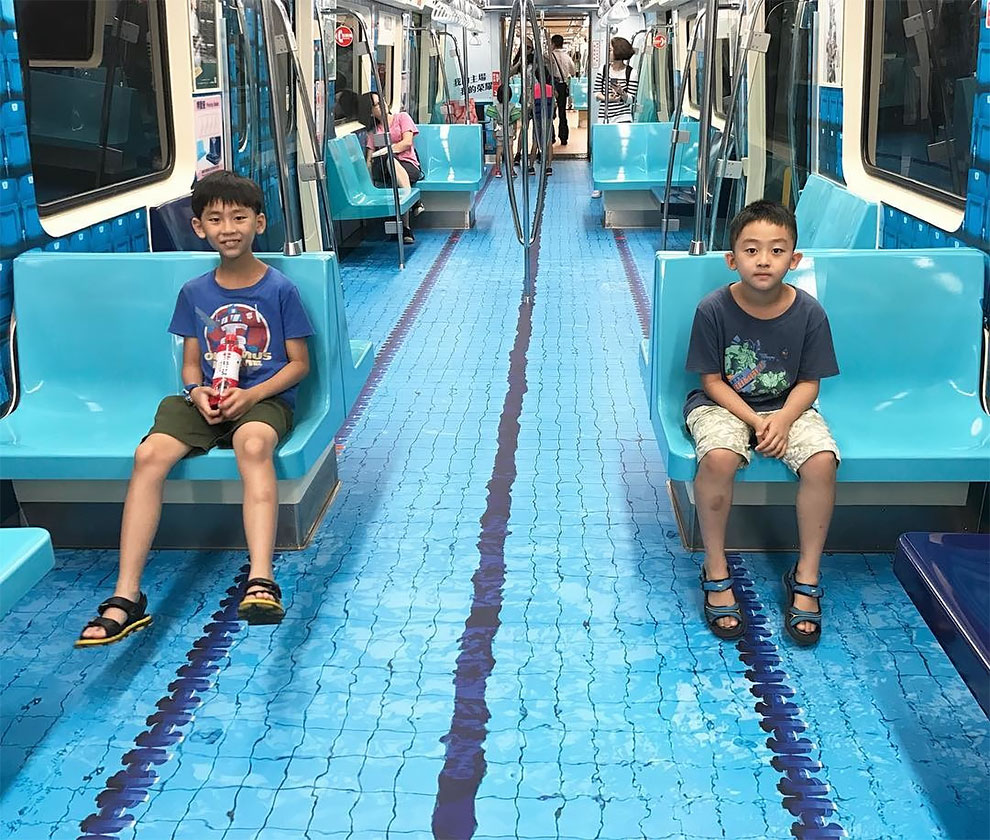 Taipei Transforms Subway Cars to Mimic Sporting Venues for Upcoming Summer Universiade
