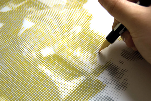 The Human Printer is an ongoing art project by Stinsensqueeze (STSQ) who take photographs and manual