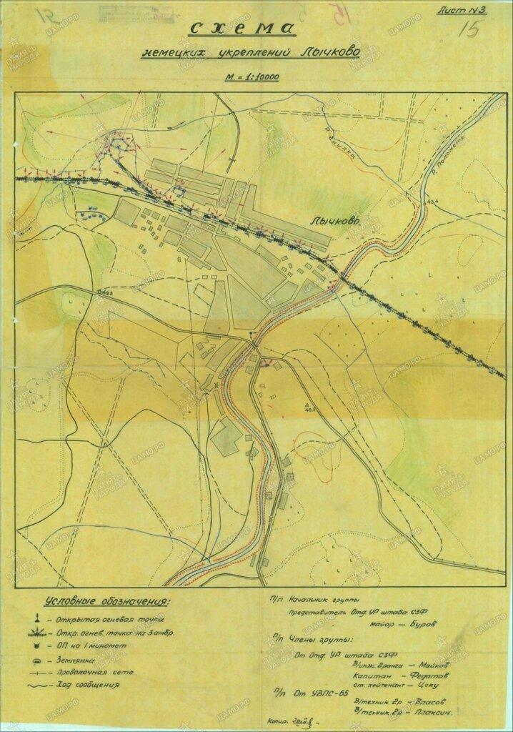 Лычково. Схема немецких укреплений.jpg