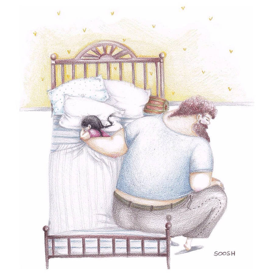 Love between Dads and their Daughters Ilustrations