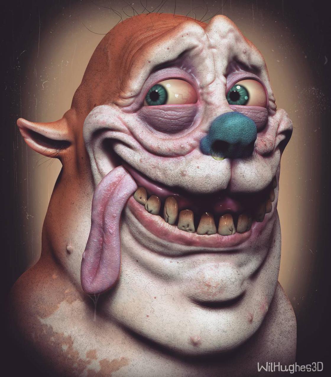 Alguem criou versoes 3D de personagens da cultura pop e o resultado e bem bizarro