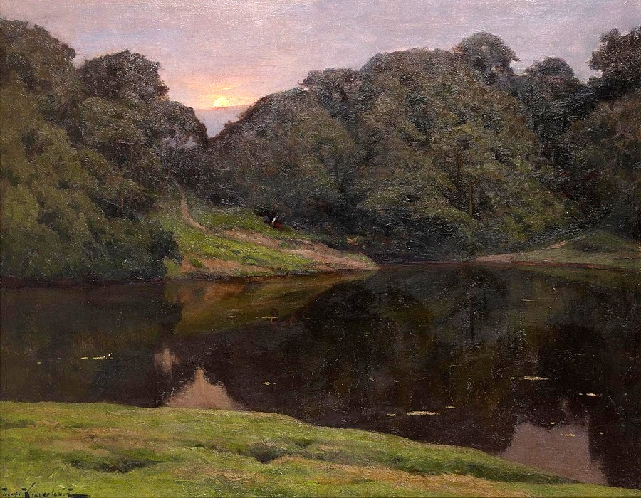 Landscape with Setting Sun.
