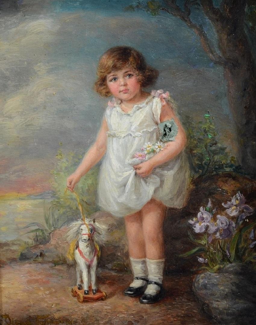 MY LITTLE HORSE (PORTRAIT OF THE ARTIST'S GRANDDAUGHTER) МОЙ МАЛЕНЬКИЙ КОНЬ (ПОРТРЕТ ВНУЧКИ ХУДОЖНИКА)