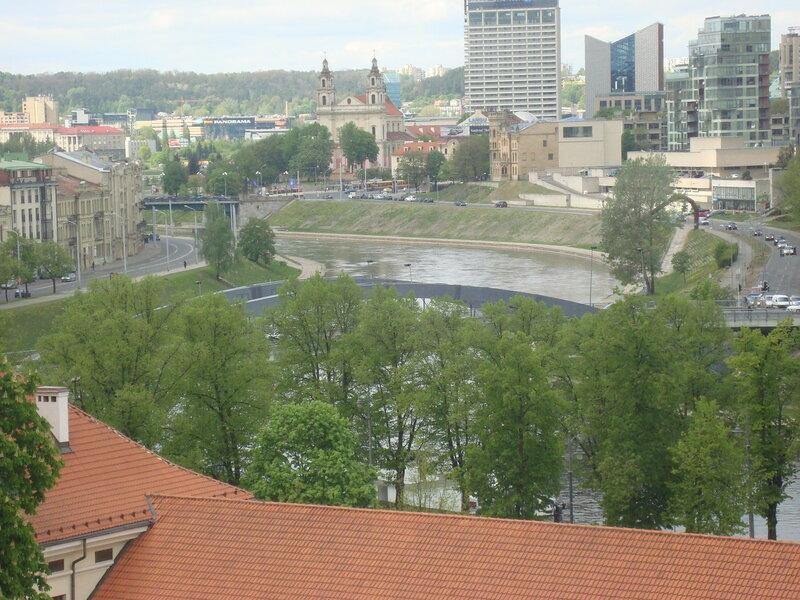 Вильнюс. Вид на Вилию с горы Гедимина (1)