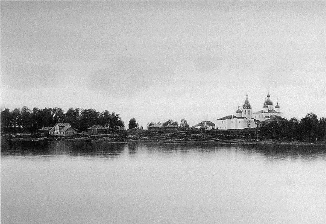 Окрестности Онеги. Кий-остров. Вид Крестного монастыря