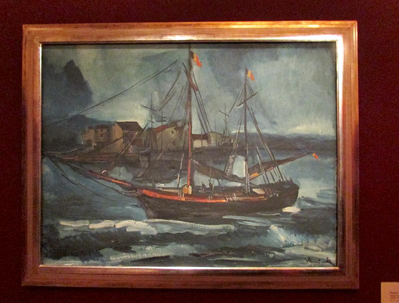 Морис де Вламинк Корабль в бурю 1914