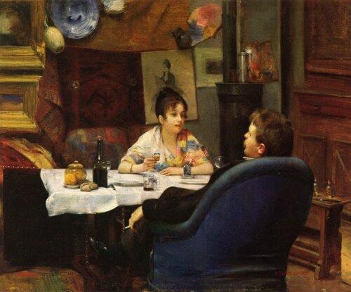 Обед в студии Henry Siddons Mowbray