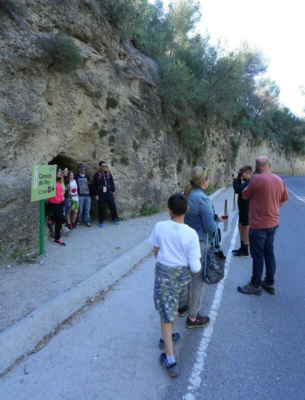 El Chorro. Small tunnel (Túnel pequeño)