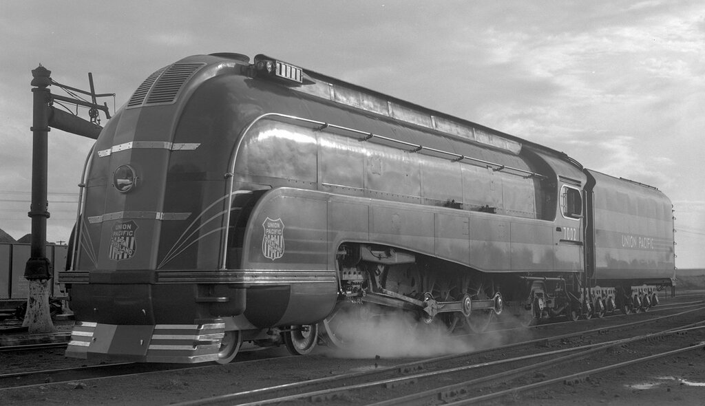 Union Pacific locomotive, engine number 7002, engine type 4-8-2, Cheyenne, Wyo., July 18, 1937.