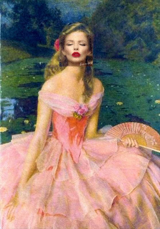 Обложка альбома Кайли Миноуг Kiss Me Once и картина Фрэнка Кадогана Купера «Гадкий утенок». Обложка