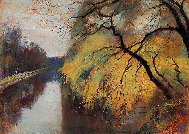 Лессер Ури. Пейзаж. 34.6×49.2 см • Пастель, Бумага
