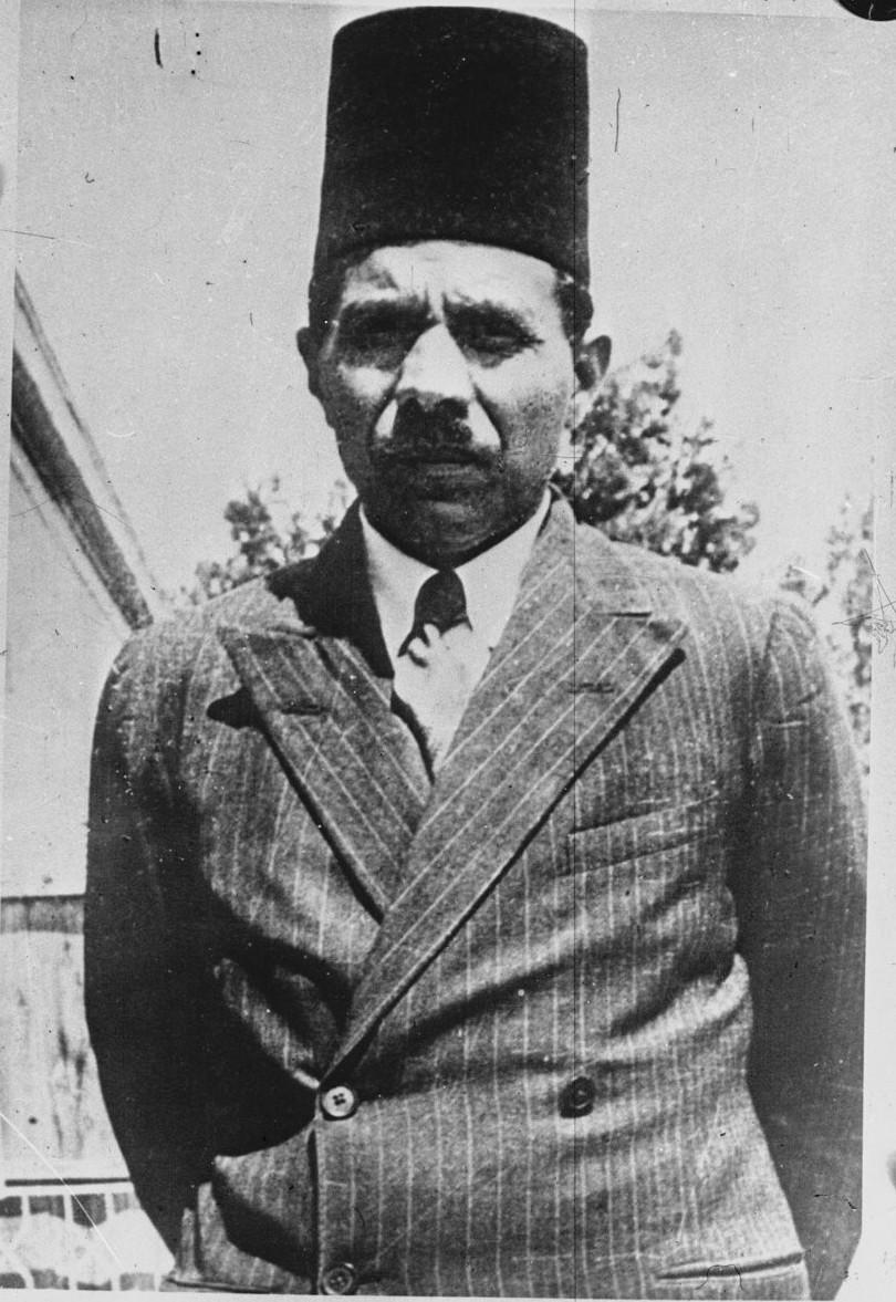 1936. Портрет Джамала аль-Хусейни — основателя и председателя Палестинской Арабской Партии и члена Верховного арабского комитета