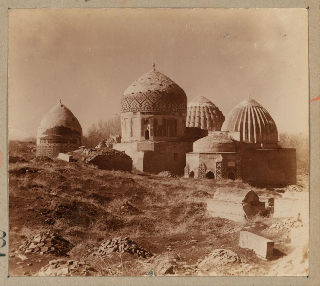 Шах-Зинде. Некрополь Шах-Зинде. Вид с северо-востока