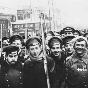 Восставший народ Петроград, февраль 1917