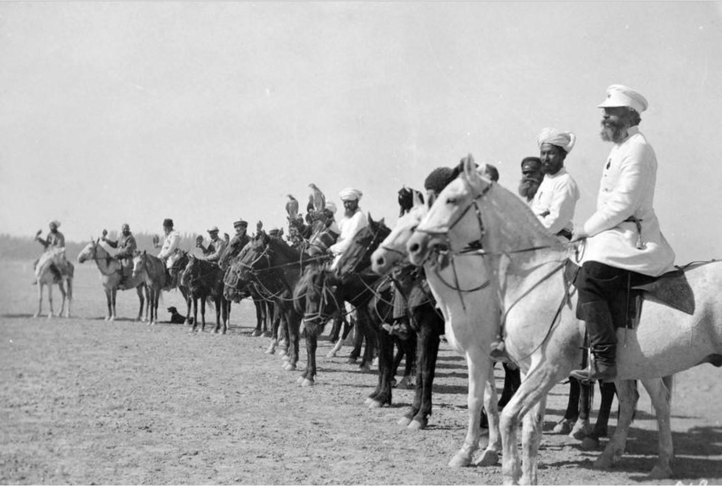 Окрестности Ташкента. Соколиная охота Хивинского хана