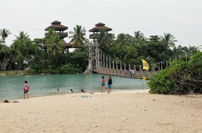 Пляж острова Сентоса