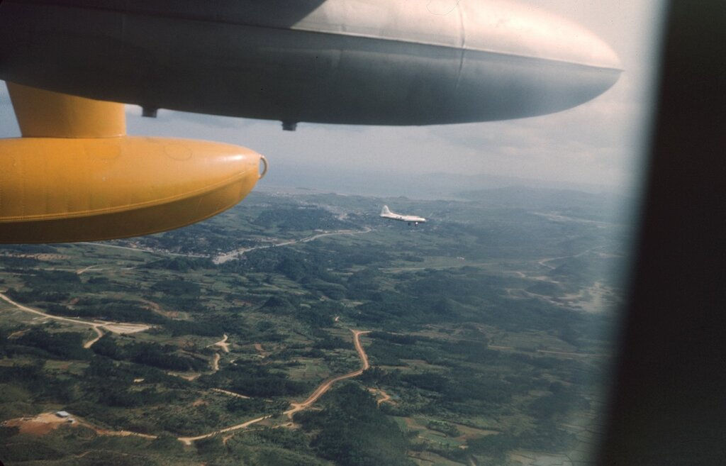 Okinawa, March 1955 intercept on B-17.