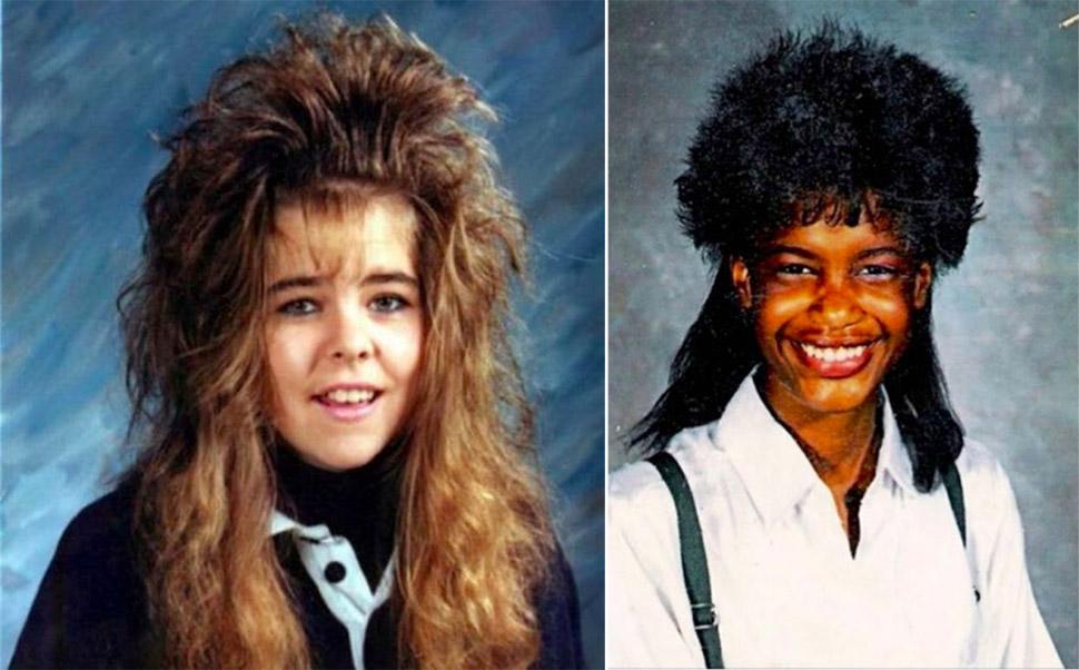 Модные прически 80-х-90-х годов