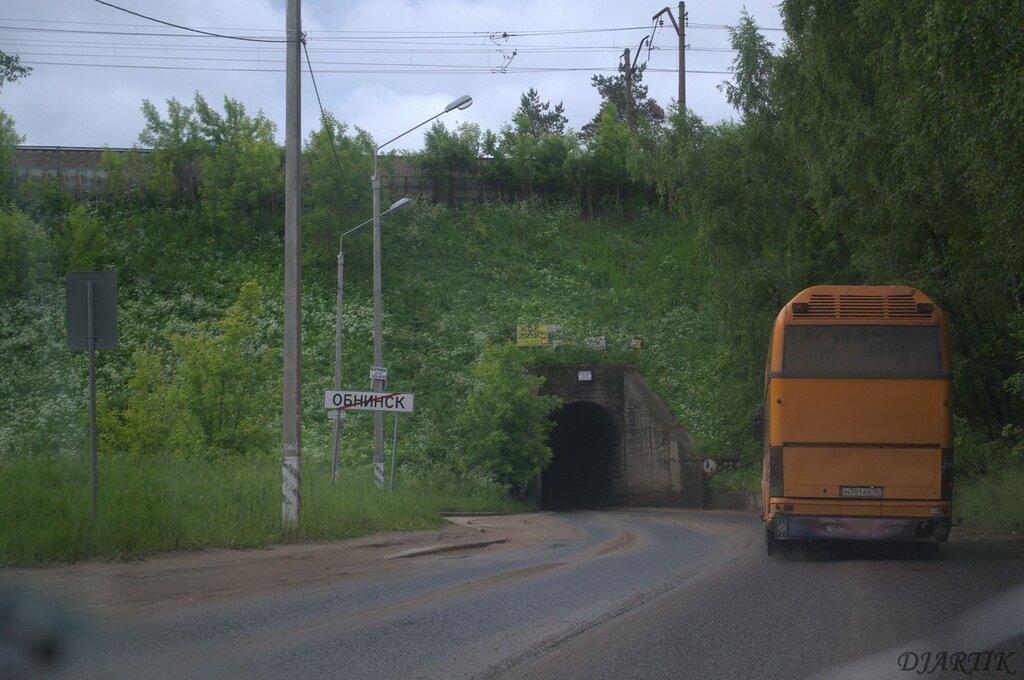 Туннель возле города
