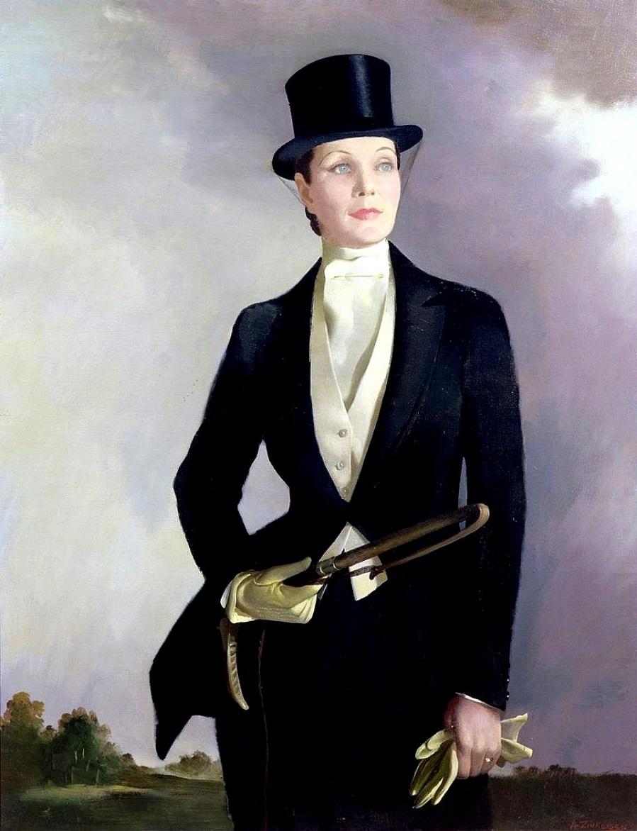 Автопортрет в костюме наездницы