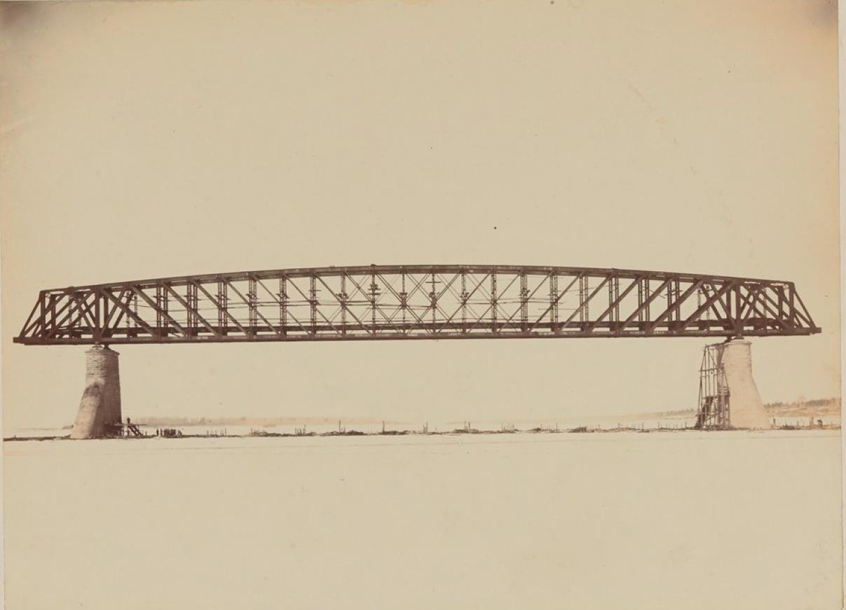 Новониколаевск. Пролет моста через Обь