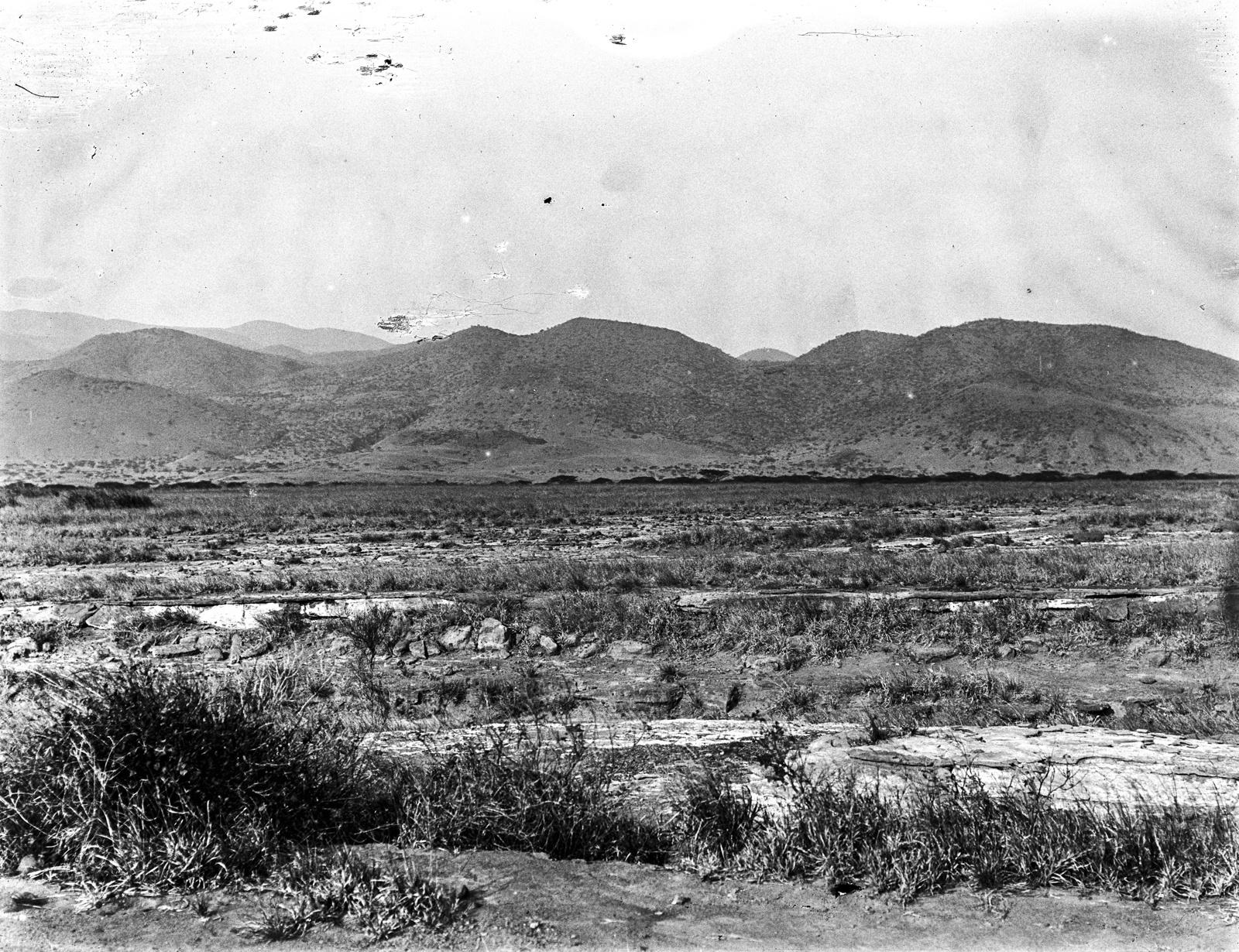 10. Вид на степь мелилитовых базальтов на юго-западных холмах вулкана Гелей