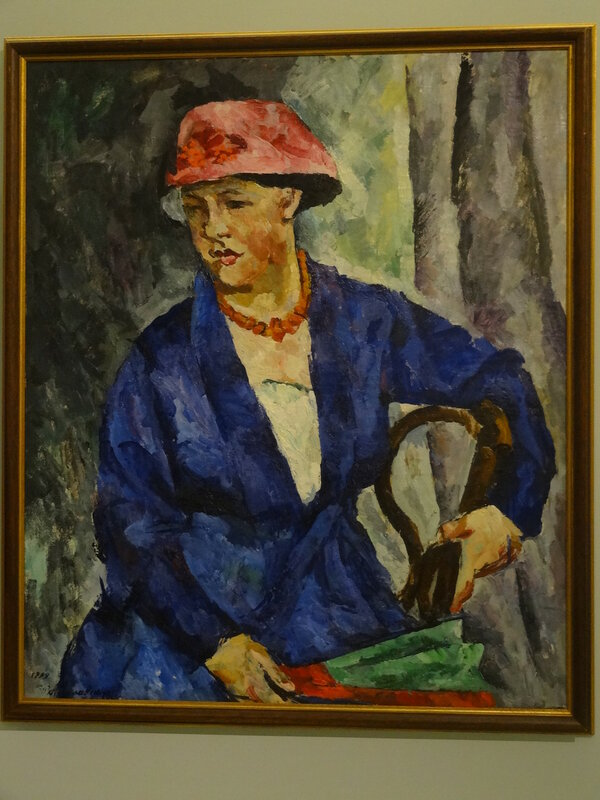 П. Кончаловский Портрет О. В. Кончаловской в синем. 1919 Коллекция Петра Авена.JPG