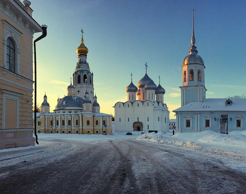 Закат в кремле, Вологда