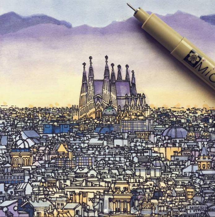 Городские пейзажи со всего мира: 10 зарисовок из альбома художника-путешественника