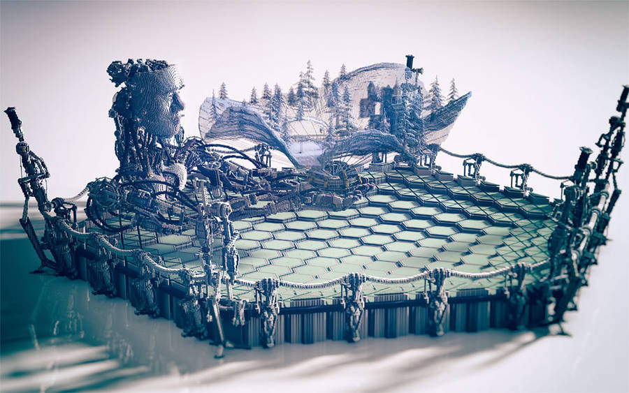 Amazing Minecraft Constructions Created with Billions of Blocks