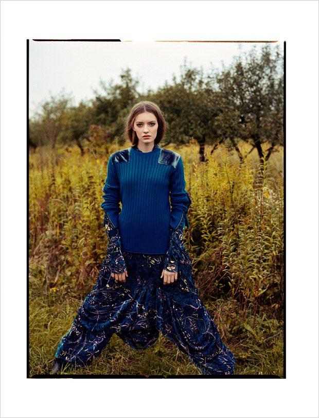 sweatshirt: Zadig&Voltaire dress and pants: John Galliano