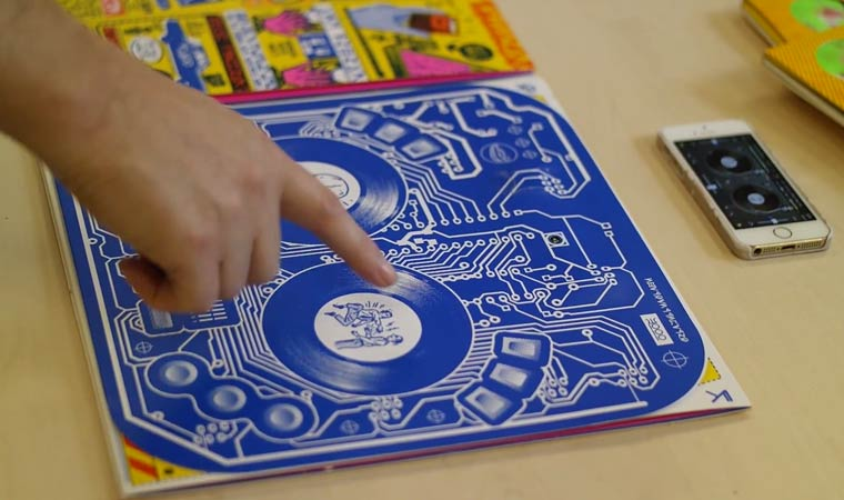DJ Qbert – An interactive album cover that turns into a real MIDI controller (6 pics)