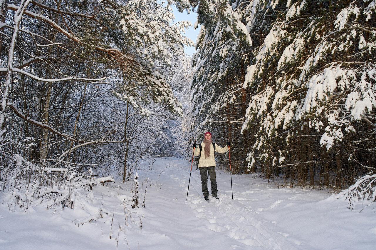 Катаемся на лыжах. Мороз не помеха.