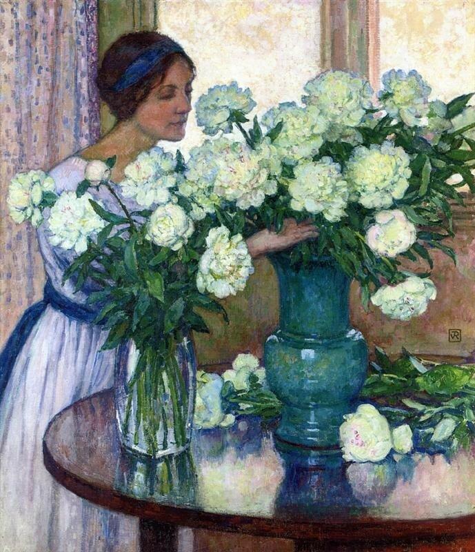 White Peonies Тео ван Рейссельберге · 1913