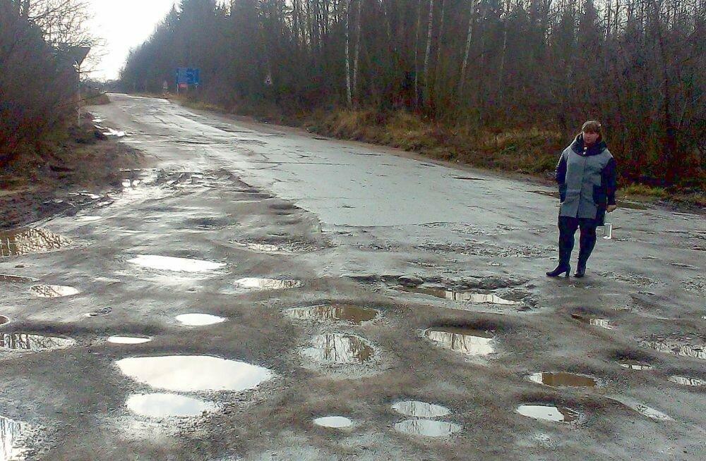 Ужасающее состояние дорог в Ярцеве