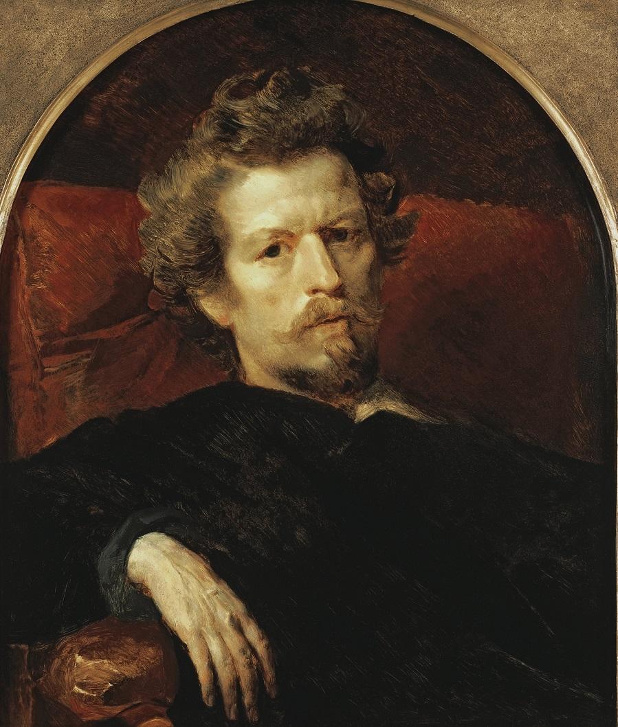 Автопортрет. 1848 Третьяковская галерея, Москва.