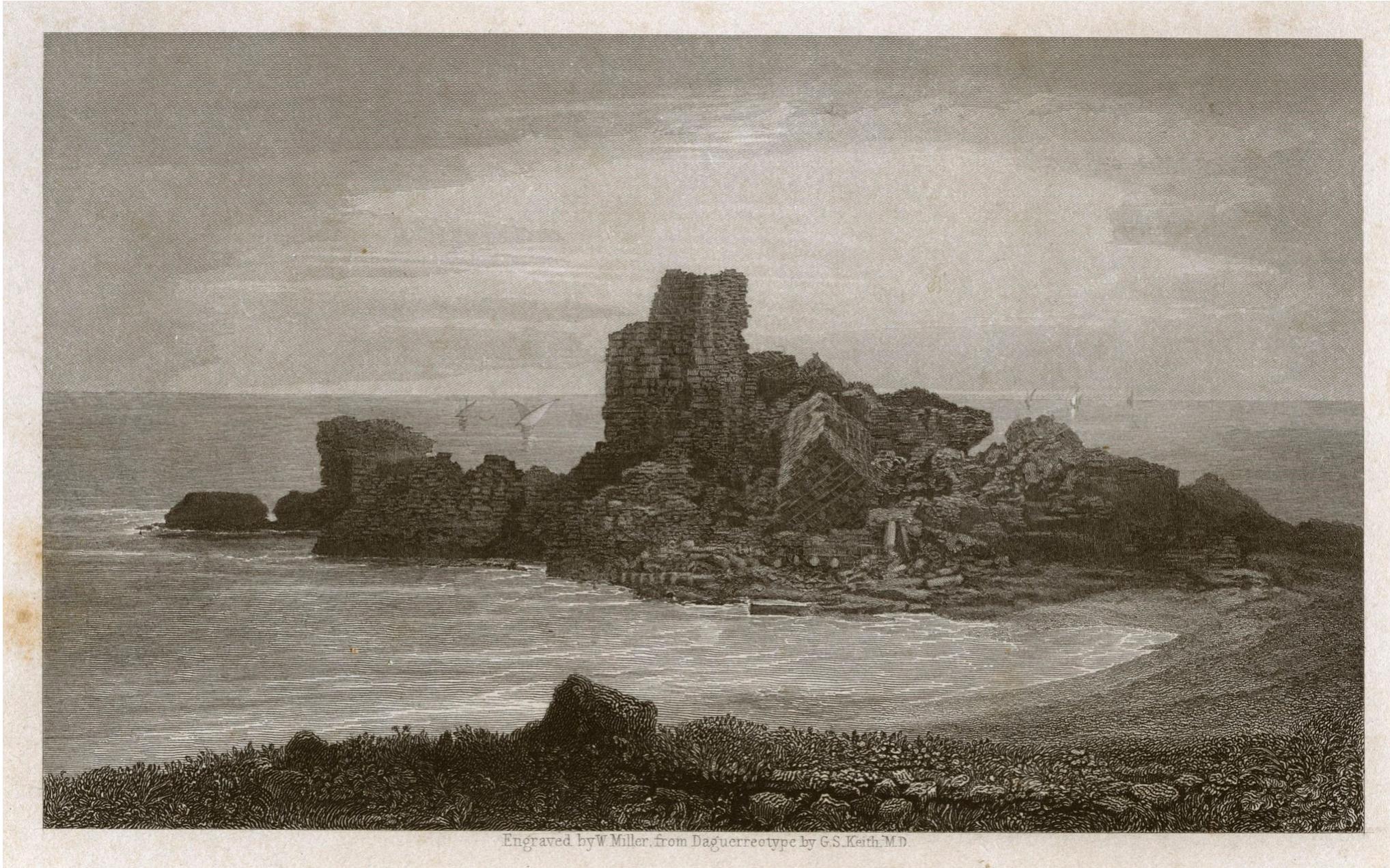 Кесария. Башня замка