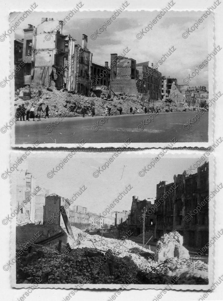 Киев в годы немецкой оккупации. Руины на Крещатике.