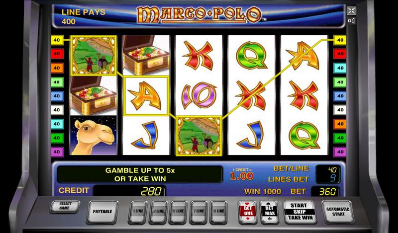 игровой автомат MARCO POLO играть онлайн