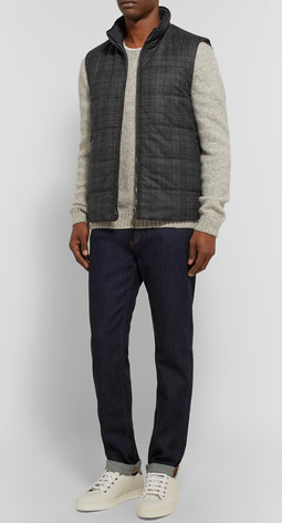 Canali - Reversible Checked Wool and Quilted Shell Gilet.png