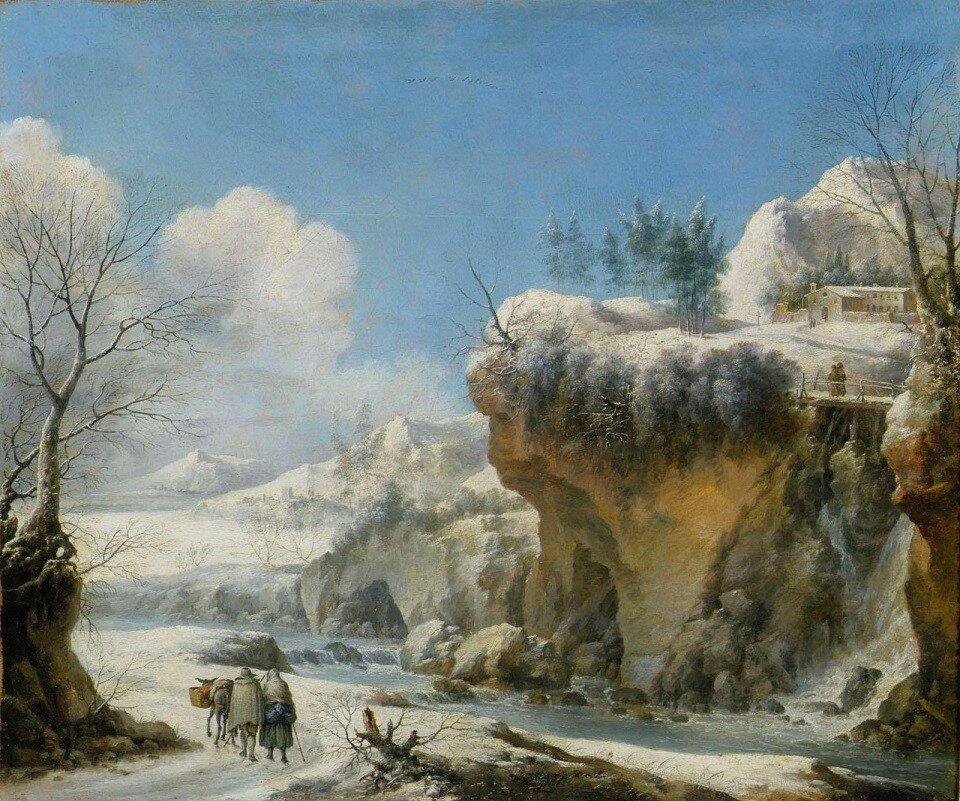 Зимний пейзаж (Winter Landscape)_63.5 х 76.2_х.,м._Частное собрание_обработано.jpg