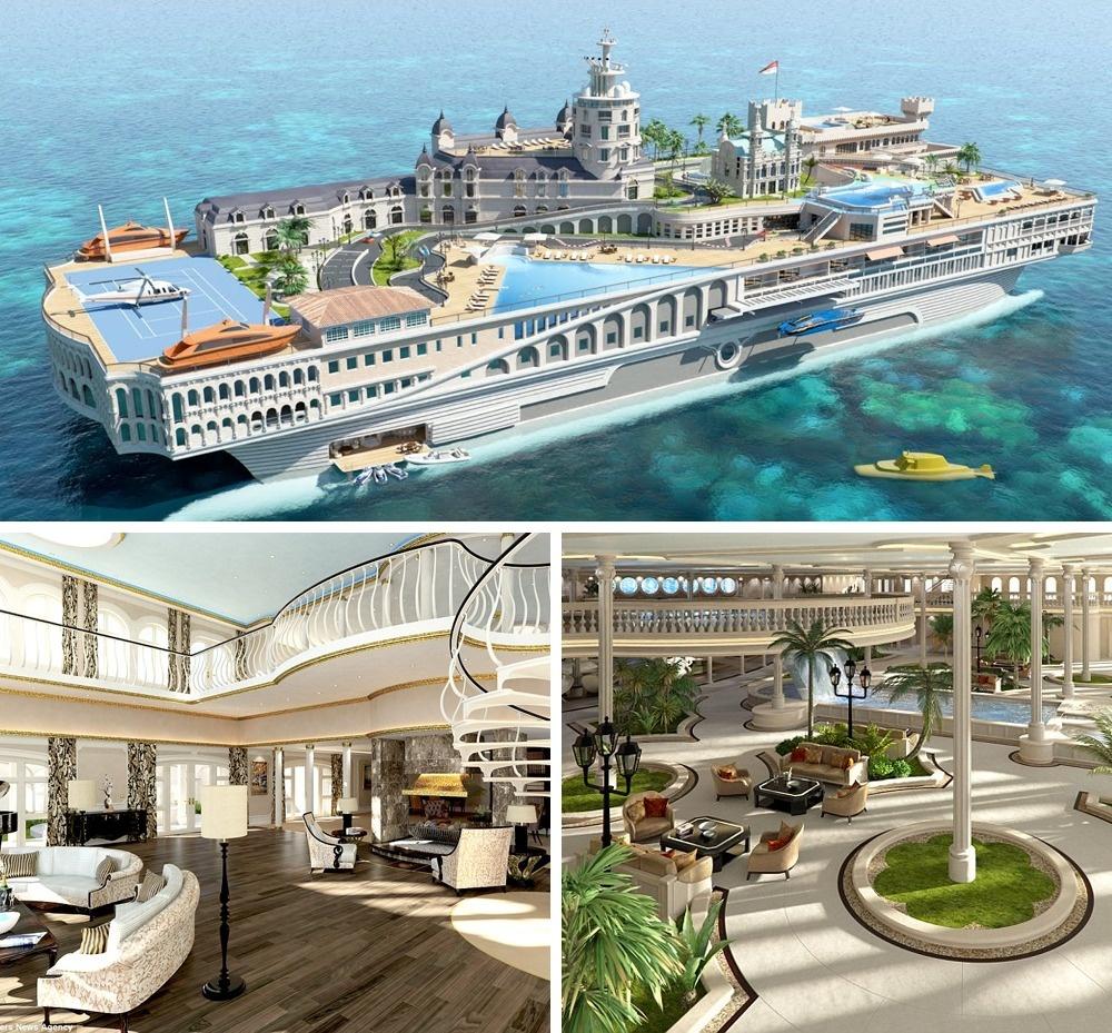© Yacht Island Design  Монако, который всегда сомной. Яхта «Улицы Монако»— пока только проек