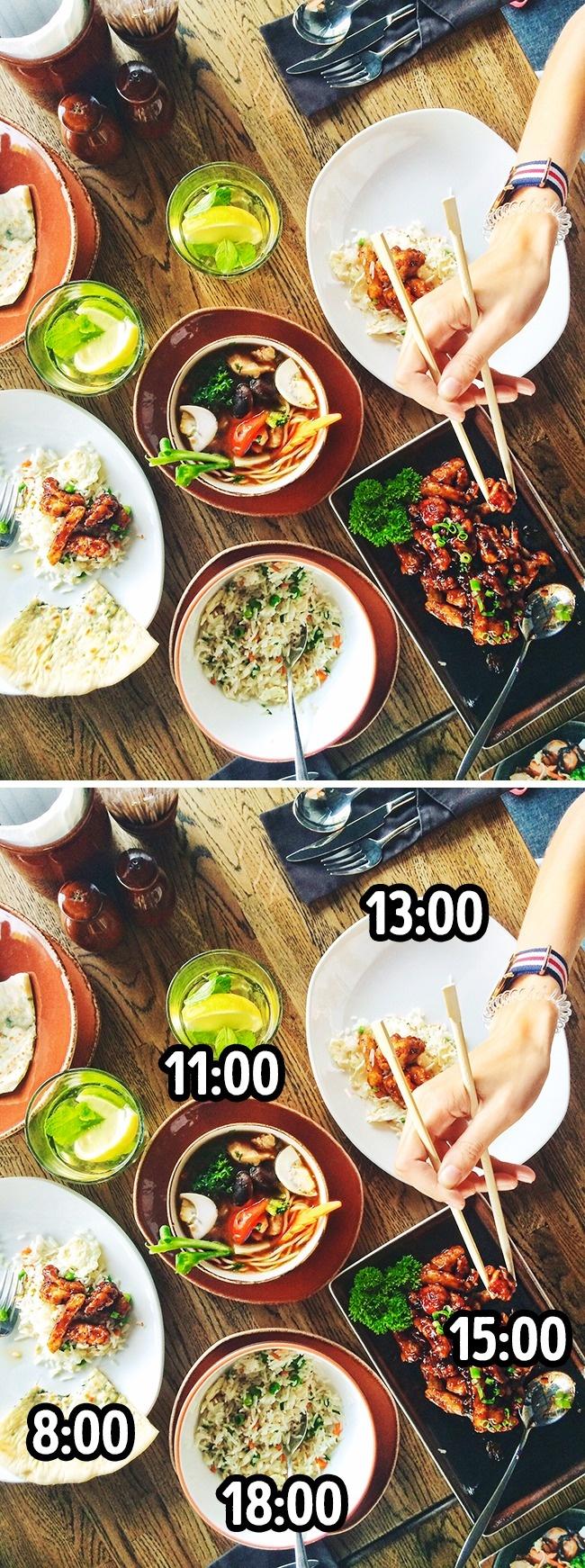 Внорме унас целых 5приемов пищи вдень: завтрак, обед, ужин идва легких перекуса. Ненужно ихпр
